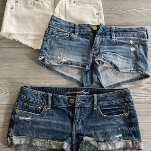 3 pairs of American Eagle shorts!